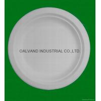 China Bleached Bagasse Pulp Round Plate on sale