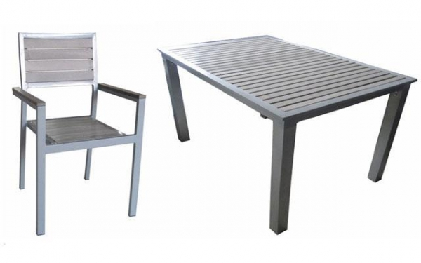 Garden Furniture Aluminium Plastic Wood Set With
