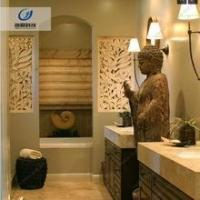 Durable waterproof and fireproof sandstone texture 3d wall art for hotel