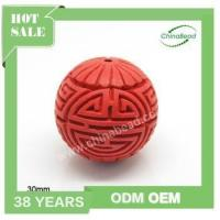 Cheap Factory sell cinnabar beads, Hand carved beads , red cinnabar beads for sale