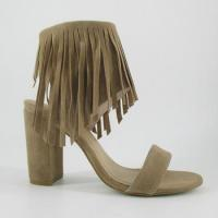 Buy cheap 2016 New Fashion Women Thick Heel Sandal Shoes with Tassel from wholesalers