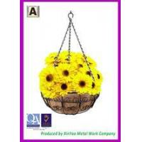 Cheap Hanging flower basket Hanging wire basket and Coir fiber liners Hanging planters baskets BH090015 for sale