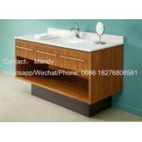 Cheap hotel bathroom cabinet hot sell wooden cabinet vanity wholesale