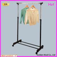 Metal frame one pole adjustable clothes drying rack