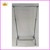 Cheap Cloth rack supplier Folable metal single bar laundry drying rack for sale
