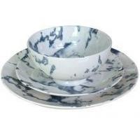 Cheap Marble Texture Ceramic Tableware Set With Bowl,Dinner Plate,Side Plate for sale