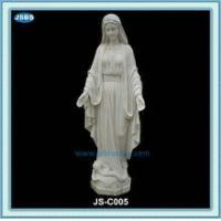 cheap white marble statue of mother mary
