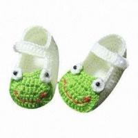 Cheap Baby Crochet Shoes, Suitable for 3 to 9 Months, Non-toxic and Eco-friendly for sale