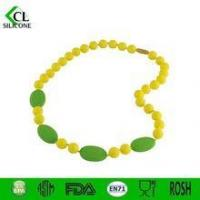 Cheap 2015 New nontoxic Silicone colorful necklace Teether for sale