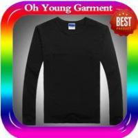 Cheap men long sleeve collar t-shirt custom long sleeve t shirt made in china for sale