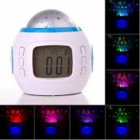 Cheap LED Starry Sky Projection Calendar Thermometer Music LCD Digital Alarm Clock for sale