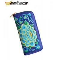 ethnic wind zipper bifold wallet,women wallet