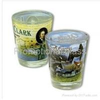 Cheap printed glass cup&mug sublimation shot glass for sale