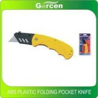 Cheap ABS plastic folding pocket knife quick release blades utility knife for sale