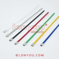 Cheap PVC Coated Ball-Lock Cable Ties for sale