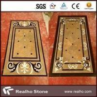 Cheap imperial gold marble inlay flooring design for sale