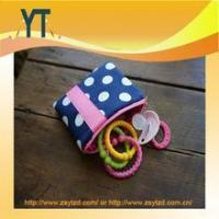 Cheap Blue And Pink Polka Dot Baby Pacifier Bag,Baby Pacifier Clip,Baby Pacifier Holder for sale