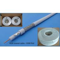 Cheap CCTV Series 0.8mm CCS RG6/RG6U Coaxial Cable for sale