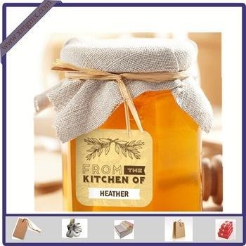 Quality New Design Adhesive Printed Honey Sticker Label for Glass Bottle wholesale