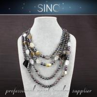 Cheap pearl white christmas ball modern pearl necklace design pearl accessories for sale
