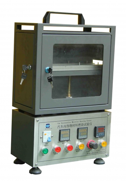 Resistance Tester Through Materials : Flame resistance test equipment car inner decoration