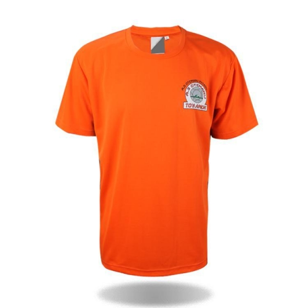 Custom team t shirt orange t shirt with certificate of for Custom t shirts for teams