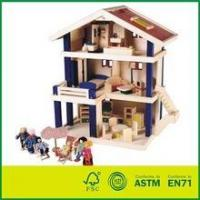 EN71 Wooden Doll House with Furnitures