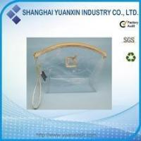 Cheap Custom Transparent Clear Zipper PVC Cosmetic Bag for sale