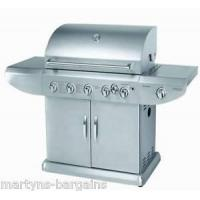 5 BURNER GAS BBQ WITH SIDE BURNER + ROTISSERIE BARBEQUE 489.99