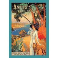 Buy cheap Antibes (PLM), Lady in White with Parasol & Dog - - Canvas Print (12x18) from wholesalers