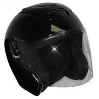 China Black DOT Motorcycle Helmet Open Face with Flip Shield on sale