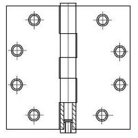 """Quality PHG 4-1/2"""" Commercial Grade Plain Bearing Hinge with Square Corners (each) wholesale"""