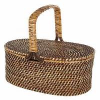 China Oval Rattan Picnic Basket in BrownItem #: 311769 on sale