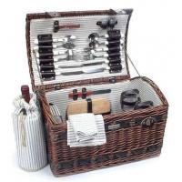 Cheap Sea grass Picnic Basket w Deluxe Service for FourItem #: 38891 for sale