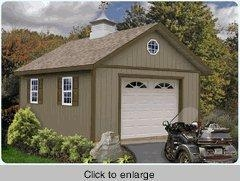 One car wood garage kit 16 x 24 kingston of buyoutdoorsheds for One car garage kits sale