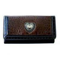 China Wallets Leather Embossed Fashion Wallet (Dark Brown) on sale