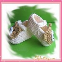 Cheap PATTERN  Crocheted Baby Bear BootiesBaby Bear Booties for sale