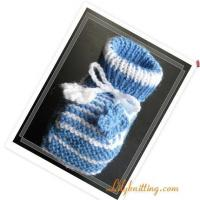 China PATTERN in PDFKnitted Baby/Toddler Maryjane BootiesBaby Booties 15 on sale