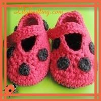 China PATTERN in PDFCrocheted Ladybug Baby Maryjane BootiesBaby Booties 19 on sale