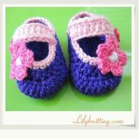 China PATTERN in PDFCrocheted Baby Maryjane BootiesBaby Booties 11 on sale