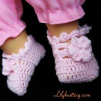 Cheap PATTERN in PDFCrocheted Baby Indoor Shoes booties with flower and leavesBaby Shoes 7 for sale