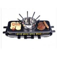 Cheap Electric Grill With Fondue Set Optional , non stick coating pan XJ-6K114CO, for sale
