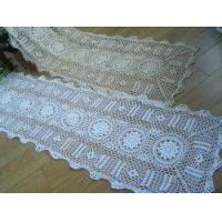 China Vintage All Handmade crochet table runner on sale