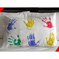 Cheap 100% Cotton Queen Size Personalized Pillow Cases / Covers with Silk Screen Printing for sale