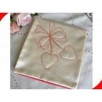 Buy cheap Ladies Embroidery Grey Satin Personalized Handkerchief with 30*30 cm from wholesalers