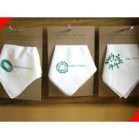 Buy cheap Custom White Silkscreen Printing Environmental Cotton Personalized Handkerchief for Women from wholesalers