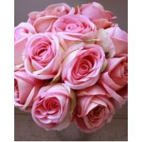 China Silk Flowers Long Stemmed Pink Roses on sale