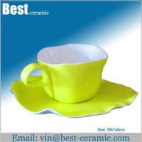 Cheap Ceramic cup&saucer ceramic breakfast cup and saucer for sale