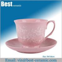 Cheap Ceramic cup&saucer ceramic espresso cup and saucer for sale
