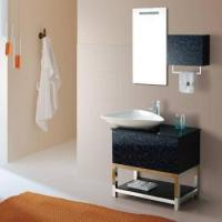 China Bath vanity with glass door and sink vessel on sale